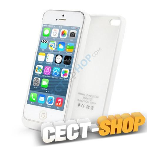 qi wireless charging cover iphone 5 5s weiss. Black Bedroom Furniture Sets. Home Design Ideas
